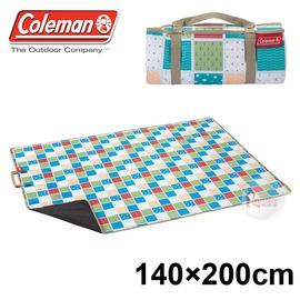 探險家戶外用品㊣CM-26875 美國Coleman 休閒野餐墊 140x200 (薄荷藍) 野餐墊 野營墊 睡墊 防潮墊 地墊