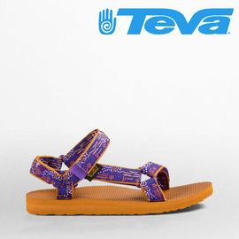 TEVA 女款 Original Universal 師聯名款 緹花織帶涼鞋 ~ 圖騰紫X
