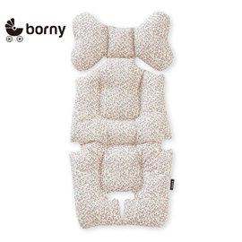 韓國【 Borny 】全身包覆墊(推車、汽座、搖椅適用) (奶油白)