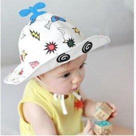 ~男女寶寶純棉遮陽帽子飛機 盆帽 嬰幼兒童防風漁夫帽