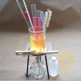 加熱套裝 組件酒精燈三腳架燒杯試管 化學實驗器材 教學儀器