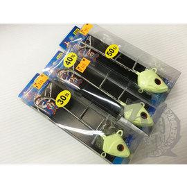 ◎百有釣具◎POKEE太平洋 夜光路亞鉛魚鉤 魚頭鉤 太刀魚 規格:30