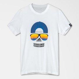 Adidas~ 流行 休閒 棉質 短T恤-白 (AP6413)