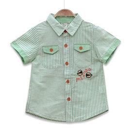 ~捷比 ~MeAnDo米果~JM5159~粗細條紋 拼接清爽感短袖襯衫