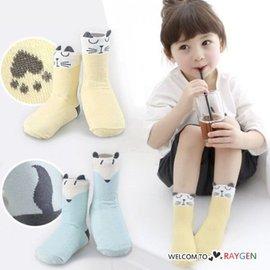 超萌狐狸貓咪小耳朵造型襪 防滑中筒襪【HH婦幼館】