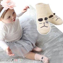 卡通金絲小貓小狗造型短襪 防滑襪【HH婦幼館】