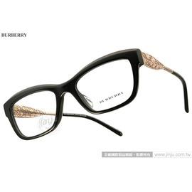 BURBERRY 光學眼鏡 BU2211F 3001 ^(黑^) Gabardine系列典