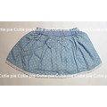 CutiePie 夏裝藍色清新感小點點蕾絲褲裙