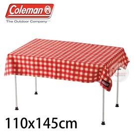 探險家戶外用品㊣CM-26878 美國Coleman 紅格紋桌布 110x145 桌巾桌墊適用折合桌 蛋捲桌 折疊桌 抗污 防水 耐磨