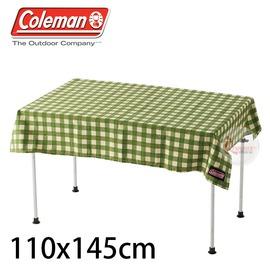 探險家戶外用品㊣CM-26879 美國Coleman 綠格紋桌布 110x145 桌巾桌墊適用折合桌 蛋捲桌 折疊桌 抗污 防水 耐磨