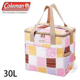 探險家戶外用品㊣CM-27234 美國Coleman 30L桃紅保冷袋 購物袋保冰袋冰桶冰筒軟式摺疊冰箱 行動冰箱 保冷箱