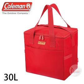 探險家戶外用品㊣CM-27237 美國Coleman 30L莓果紅保冷袋 購物袋保冰袋冰桶冰筒軟式摺疊冰箱 行動冰箱 保冷箱