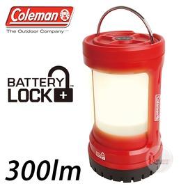 探險家戶外用品㊣CM-27296 美國Coleman PUSH LED營燈 紅 300流明LED營地燈 LED露營燈LED營燈野營燈電子燈