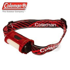 探險家戶外用品㊣CM~27310 美國Coleman 廣域LED頭燈 80流明 紅 工作燈