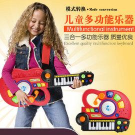免 ~買窩^~兒童早教益智音樂玩具~花最實惠的 誘發小孩的音樂興趣 吉他電音樂隊 益智玩具