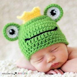 青蛙王子 造型 針織帽 三角褲 套裝 嬰兒 攝影 寫真【HH婦幼館】