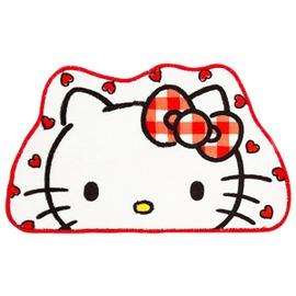 Hello Kitty大臉愛心白色 地墊 腳踏墊 客廳浴室臥房踏墊