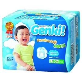 王子nepia Genki元氣褲(紙尿布)-L30片(6包/箱購)