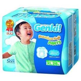 王子nepia Genki元氣褲(紙尿布)-XL26片(6包/箱購)