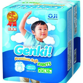 王子nepia Genki元氣褲(紙尿布)-XXL18片(6包/箱購)
