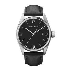 Georg Jensen喬治傑生 DELTA CLASSIC ~ 42公釐,石英,黑色錶盤