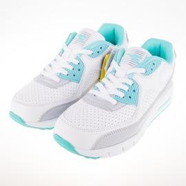 DIADORA  女 全白 學生 寬楦 休閒運動鞋 DA6AWC2885