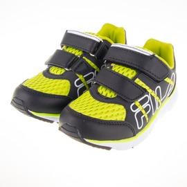 6折出清~FILA  輕量慢跑鞋-黑/綠 2-J423Q-060