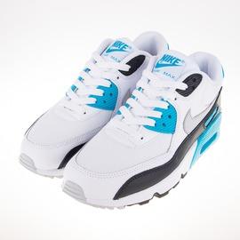 NIKE  AIR MAX 90 慢跑鞋-白/黑/藍 833418101