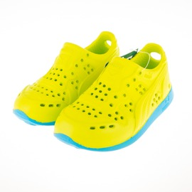 PUMA  RS200INJEX 兒童 洞洞 運動涼鞋-綠/藍 354968-13
