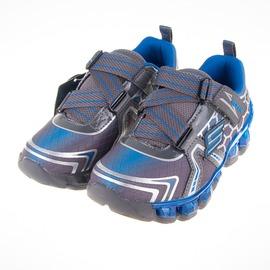 Skechers  兒童 氣墊 電燈鞋-灰/藍 90292LCCRY