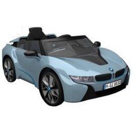 【店面購買7999元】『CK27』原廠寶馬BMW I8 雙開門電動車(附遙控)(雙驅)W480QHG(緩起步) 水藍色【贈 動物家族拉拉樂積木】