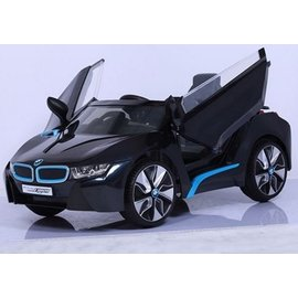 【店面購買7999元】『CK27』原廠寶馬BMW I8 雙開門電動車(附遙控)(雙驅)W480QHG(緩起步) 黑色【贈 動物家族拉拉樂積木】
