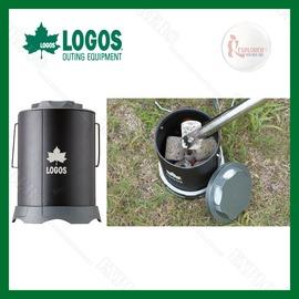 探險家露營帳篷㊣NO.81063128 日本品牌LOGOS便攜起滅火壺 消炭火罐 木炭攜帶罐 隨手做環保木炭自己帶走