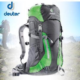 【德國 Deuter】Climber 22L (Alpine Back System)拔熱登山背包.休閒.健行.露營.雙肩背包.嬌小女生可揹_36073  綠黑
