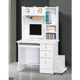 ~台北家福~^(FG535~1^)白色3尺電腦桌^(整組^)
