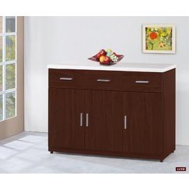 ~台北家福~^(FG567~3^)胡桃色4尺餐櫃