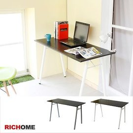 比堤皮面工作桌 書桌 電腦桌^(黑色、咖啡色^)