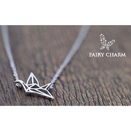 ~Fairy Charm~ORIGAMI千紙鶴鎖骨鍊