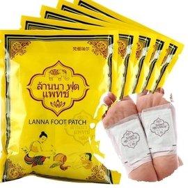 ~ , ~泰國 正品 LANNA 蘭納 足貼 晚安足底舒適貼布 10片 包  附防偽標籤