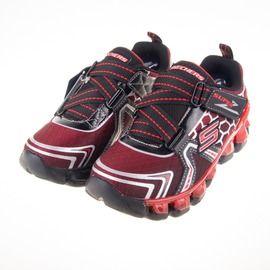 Skechers  兒童 氣墊 電燈鞋-紅/黑 90292LBKRD