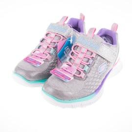 Skechers  閃亮 女 兒童慢跑鞋-灰/粉 81853LSMLT