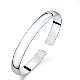 925純銀鐲子 光面手鐲 飾品 實心高亮光身手環 韓國版男女款