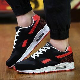 USY男鞋子 男士 鞋 鞋青少年學生潮流氣墊跑步潮鞋 CX~Y1黑紅39