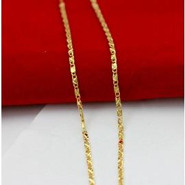 黃銅首飾瓦片金項鏈 仿金店黃金項鏈4050