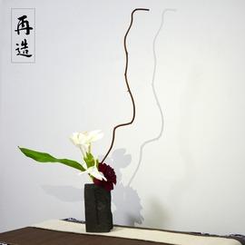 ~再造工坊~陶瓷花瓶不規則 插花容器裝飾擺件古樸自然紋花瓶