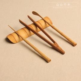 茶荷三件套 茶道 零配 茶針 茶勺 茶則 竹節碳化 三件套 茶道 茶針(單支)