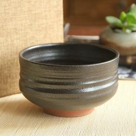 紫砂粗陶抹茶碗 日式茶筅抹茶茶道 碗 茶渣 干果收納器