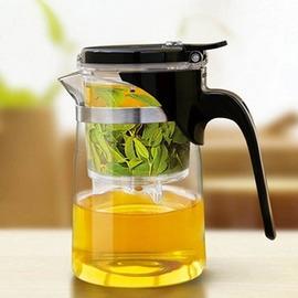 飄逸杯正品尚明耐熱玻璃茶具茶水分離泡茶杯套裝含內膽拆洗泡茶壺一個飄逸杯 4個尚明原配玻璃杯