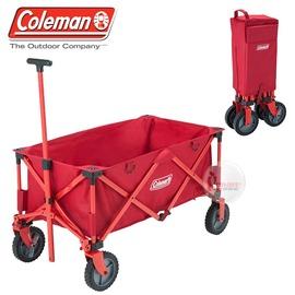探險家戶外用品㊣CM-21989 美國Coleman 四輪拖車裝備拖車 摺疊置物推車 滾輪裝備收納袋 帳篷裝備袋著走
