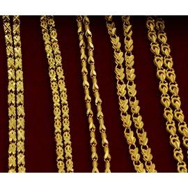 B2 24K真空高仿黃金手鏈 倒模手鏈 結婚首飾品  手鏈款式 發貨
